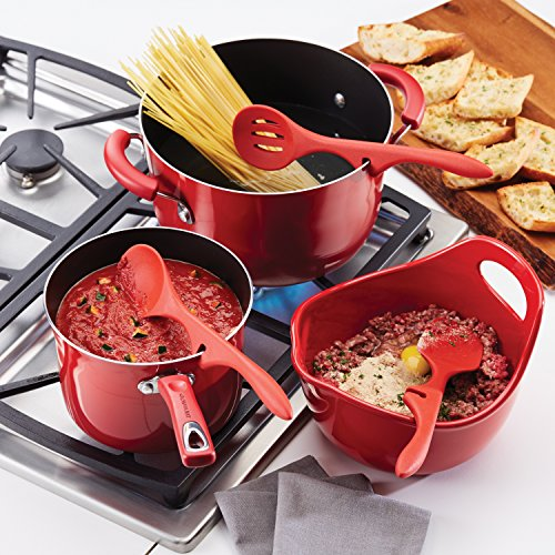 Rachael Ray Silicone Lazy Tools Set, Red, 3-Piece, Tools and Gadgets