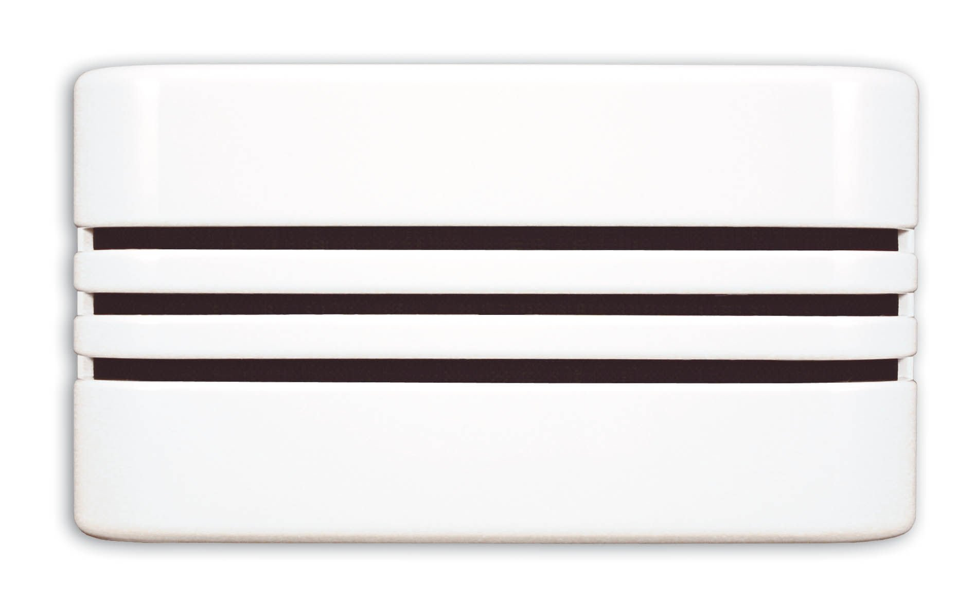 Heath Zenith 57/M Wired Door Chime with Decorative Linear Cover, White