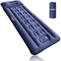 KUHEE Sleeping pad for Camping Sleeping pad with Built-in Pillow&Foot Pump Ultralight Camping Mattress for Camping Tent…