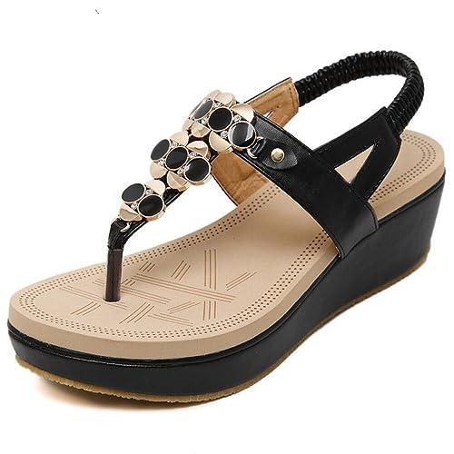 XZGC - Scarpe con fascia alla caviglia. Donna , nero (nero), 36