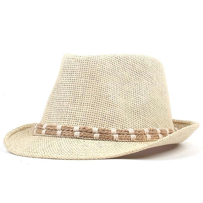 ab5e2cd35e12 August Jim Sombreros de Paja de Verano para Hombre, Unisex, Beige ...