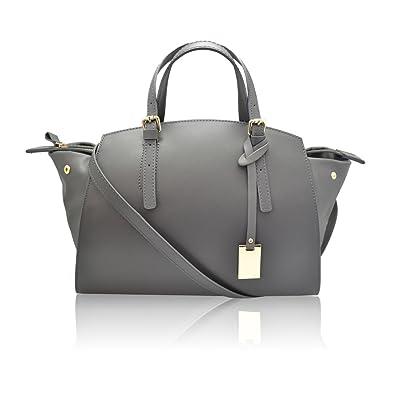 82b7196ad86 DALILA Italian Handbag smooth and soft leatheradjustable shoulder strap shoulder  purse Made in Italy