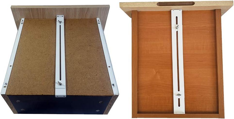2 Pack Used to Reinforce and Repair Wooden//MDF//Chipboard Drawers Cabinet Reinforcement Heavy Duty Steel Hardware Furniture Accessories Brackets FRMSAET Drawer Repair Kit Includes Screws