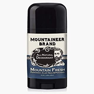 product image for Mountaineer Brand All Natural Deodorant Stick by Mountaineer Brand | Stay Fresh With Safer Ingredients | 3.25 oz (Mountain Fresh)