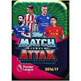 2016/2017 Topps Match Attax English Premier League Soccer Awesome Collectors TIN with 45 Cards Including EXCLUSIVE LIMITED EDITION Card! Look for Cards of all the Top Stars of Premier League!