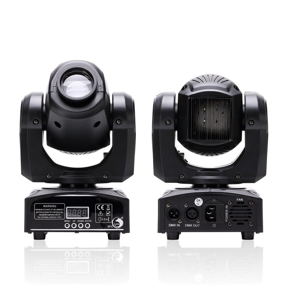U`King LED Moving Head Light Spot 4 Color Gobos Light 25W DMX with Show KT V Disco DJ Party for Stage Lighting by U`King