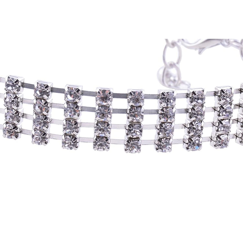 ZHUOTOP Women Bohemian Sexy Crystal Rhinestone Chunky Anklet Chain Link Bracelets Foot Wedding Jewelry Shining iouorY