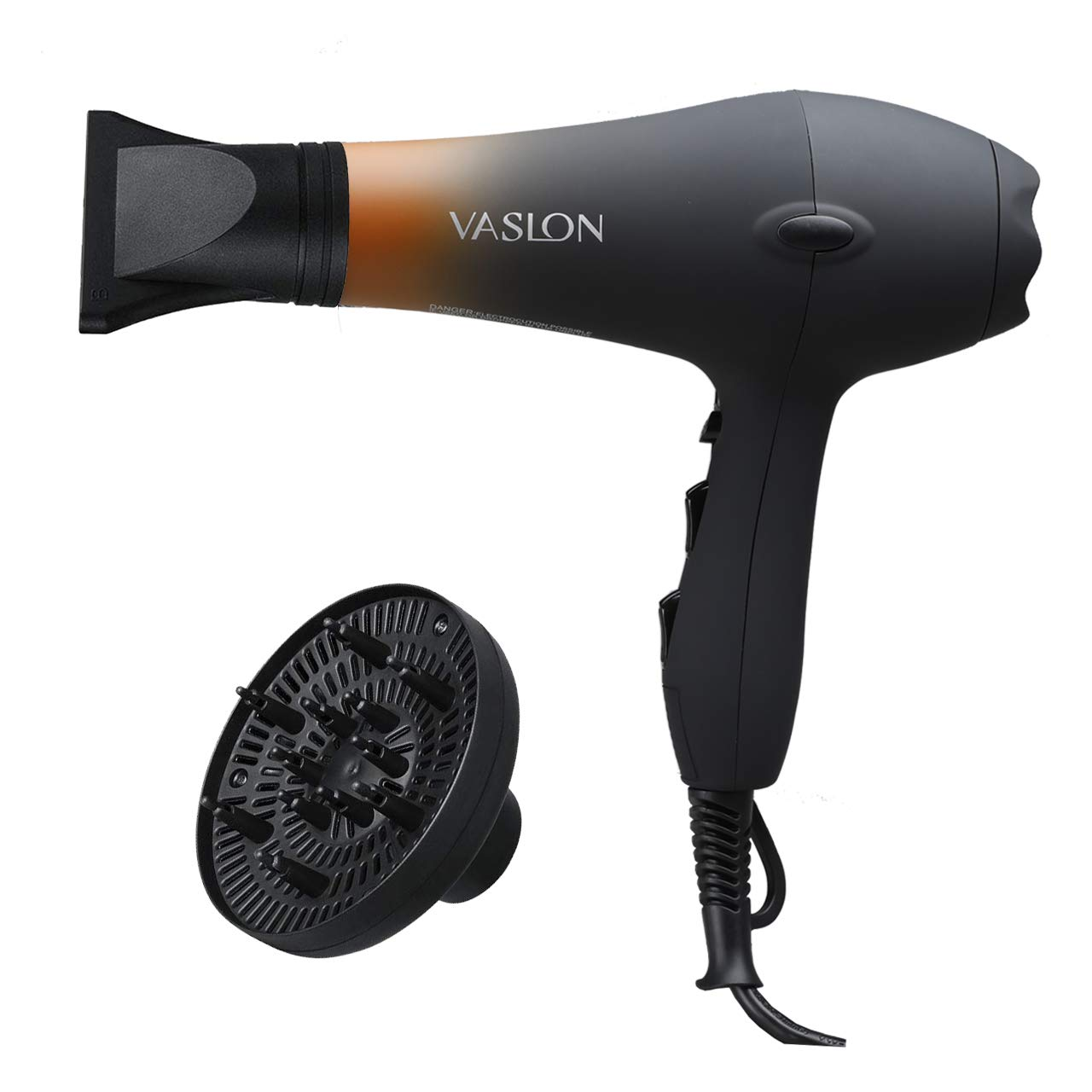 VASLON Salon Grade Professional Hair Dryer 1875W AC Motor Negative Ionic Ceramic Blow Dryer With 2 Speed and 3 Heat Settings Cold Shot Button, Diffuser and Concentrator
