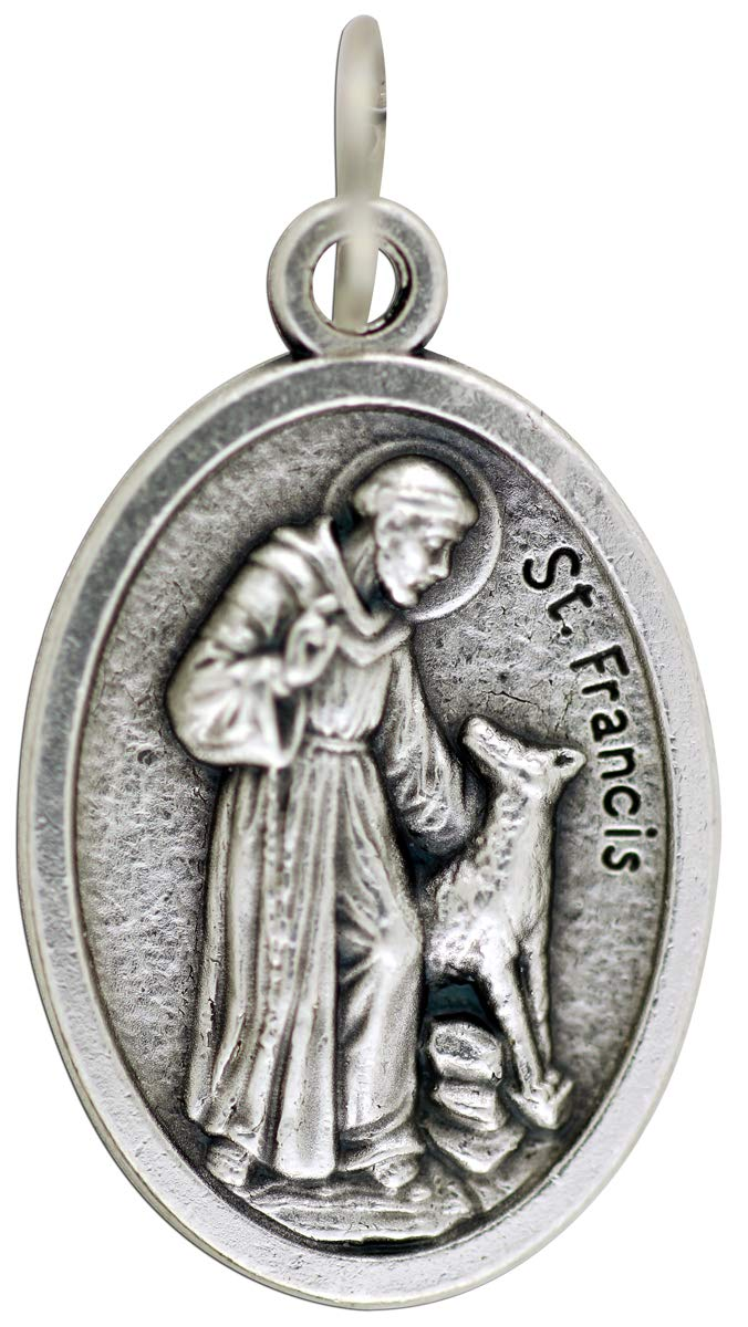 St Francis Protect and Bless My Pet Dog Cat Medal 1 Inch