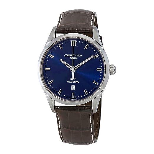 Certina DS-2 Precidrive C024.410.16.041.20 - Reloj para Hombre, Esfera Azul, Color Azul: Amazon.es: Relojes