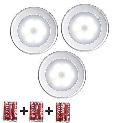 LIVHÒ | Lampara nocturna LED con 3PCS y sensor de movimiento - Luz por armario,