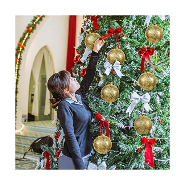 Palline di Natale Oro (Set da 2) - Palle di Natale Oro Grandi 15cm con Corda - Decorazioni Albero di Natale Oro in Plastica Infrangibile - Palline di Natale Dorate per Albero - Decorazioni Natalizie 5 spesavip