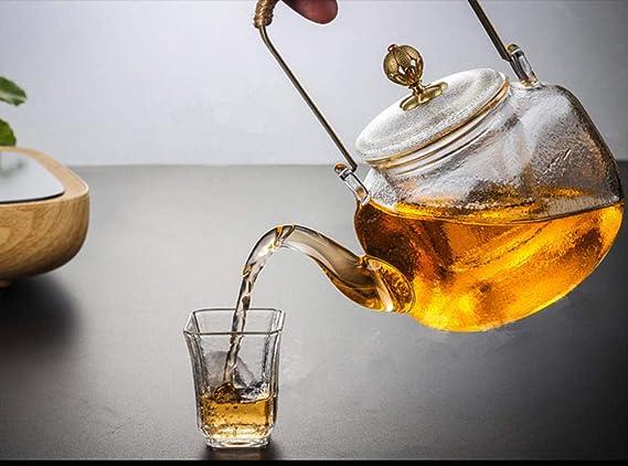SUIHUGOOD Retro Botella de Agua fría Transparente Cuadrado ...