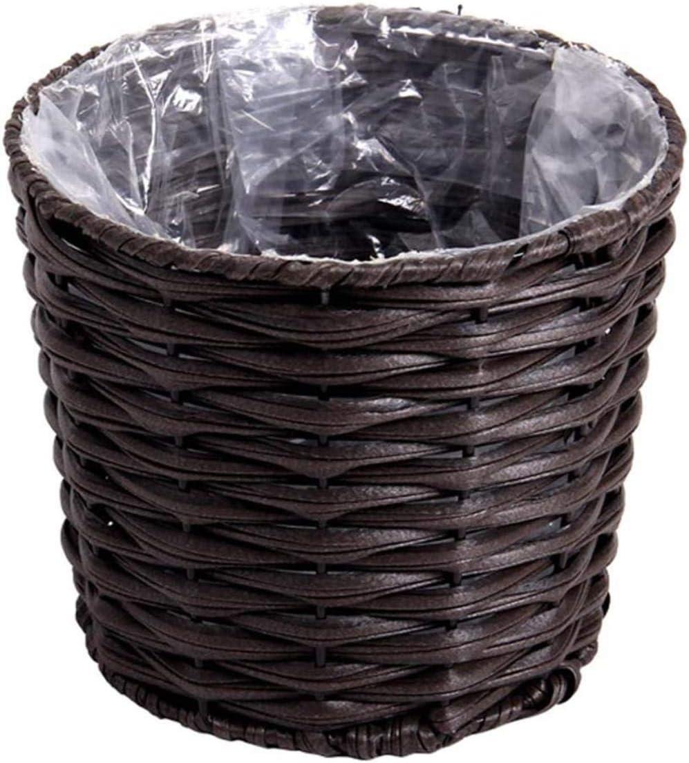 Woodtree Canasta de Almacenamiento, Hecho a Mano Cesta de Almacenamiento de baño, Juego de cestas de la Plataforma, Caja de Almacenamiento de Tejido de decoración for el hogar