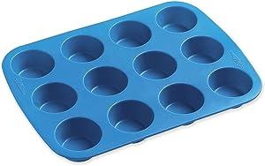 Wilton Easy-flex Silicone Mini Muffin Pan-12 Cavity 1.875-inch x .875-inch,