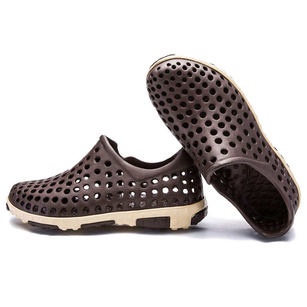 Colmkley Hole Shoes Mens Summer Beach Shoes Breathable Sandals Water Shoes
