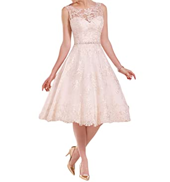 Mr.ace Homme Tea Length Vestidos de novia Illusion Sheer Lace Bridal Wedding Dresses M0109