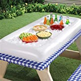 TraveT Inflatable Serving/Salad Bar Tray Food Drink Holder -- BBQ Picnic Pool Party Buffet Luau Cooler,with a drain plug