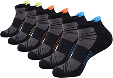 Mens Running Hiking Performance Outdoor Athletic Sport Ankle Cushion Tab Socks