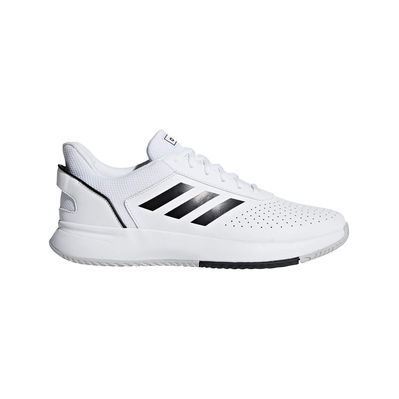 Adidas Men's Courtsmash Ankle-High Fashion Sneaker (White/Black, 10) by adidas