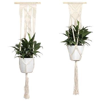KANKOO Flower Plant Holder Pot Garden Home Cuerda Hanging ...