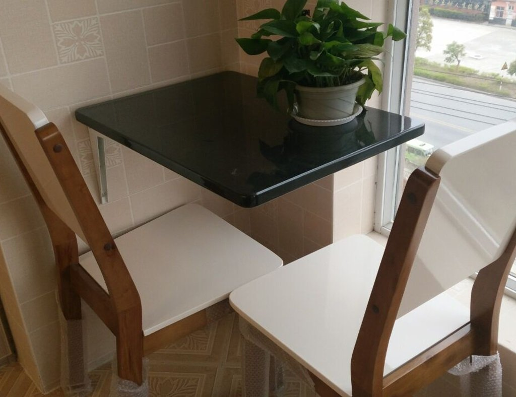 多機能長方形の目に見えないダイニングテーブル折りたたみ式の壁掛けテーブルライティングデスクカラーサイズオプション ( 色 : ブラック , サイズ さいず : 80cm*60cm*2.5cm ) B0796N6BS5 80cm*60cm*2.5cm|ブラック ブラック 80cm*60cm*2.5cm