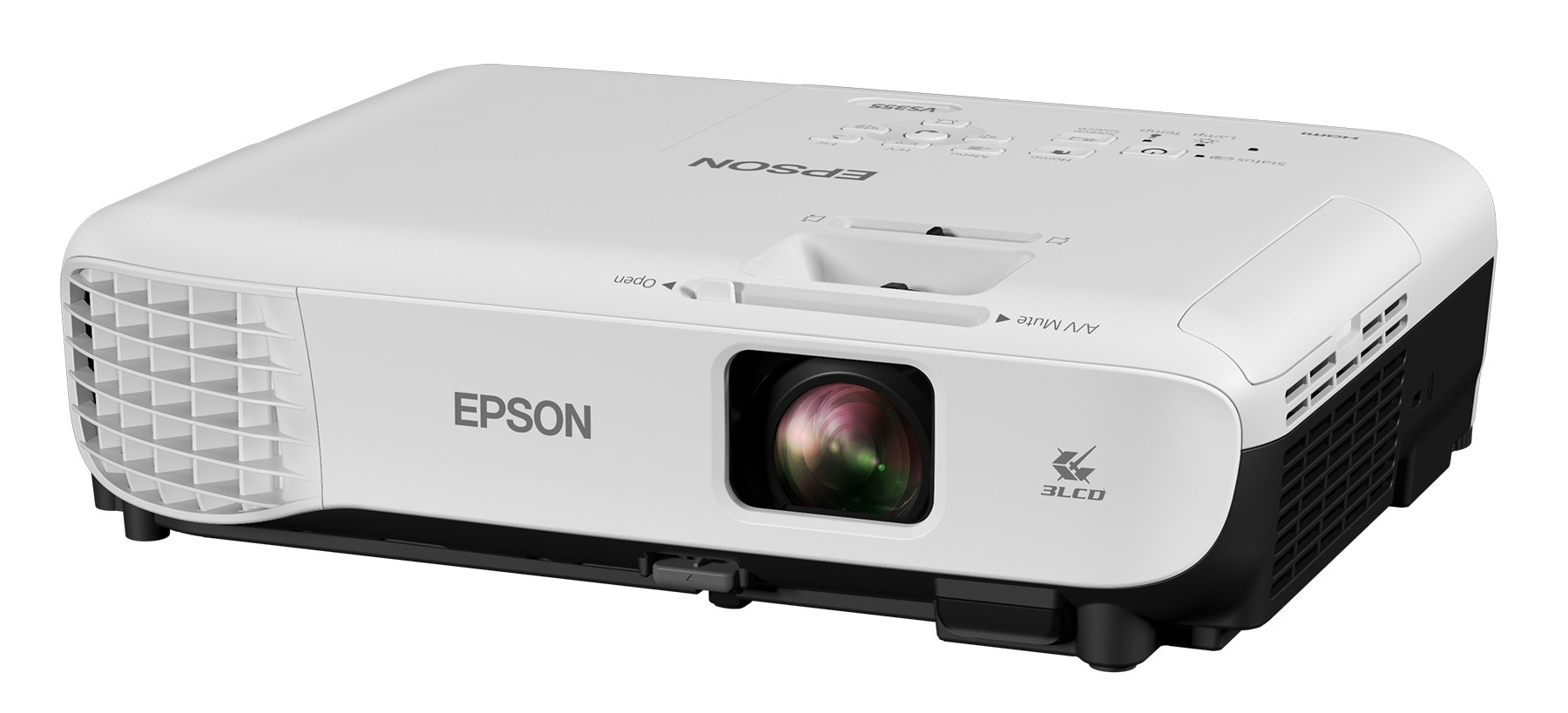Epson VS355 WXGA 3,300 lumens color brightness (color light output) 3,300 lumens white brightness (white light output) HDMI 3LCD projector by Epson
