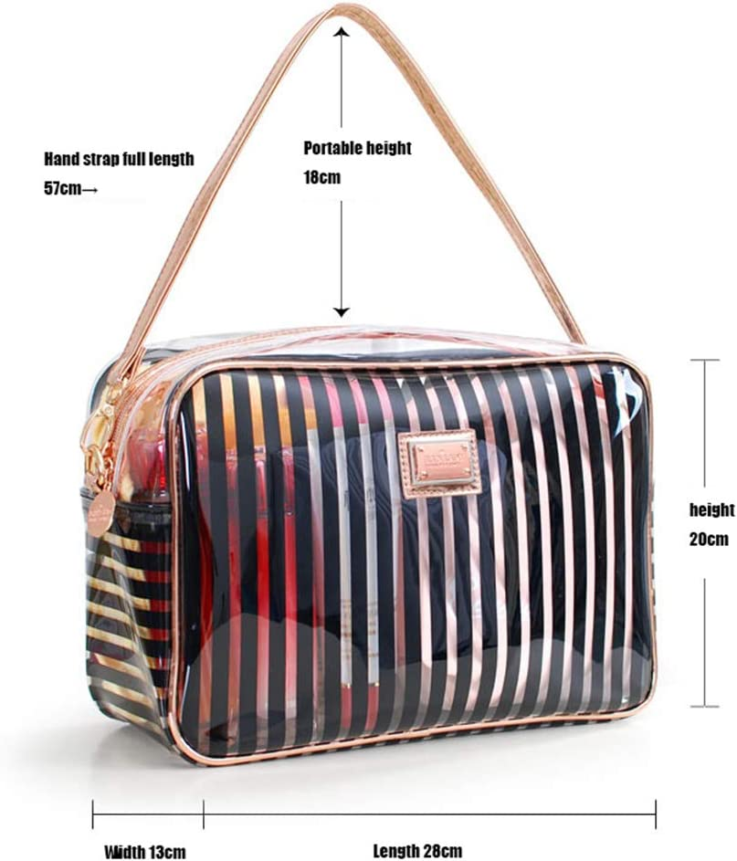 HUATINGRHHO Toiletry Bags Gift Makeup Bags /& Cases Plastic Bag Clear Travel Bag Brushes Organizer for Men and Women Travel Business Bathroom
