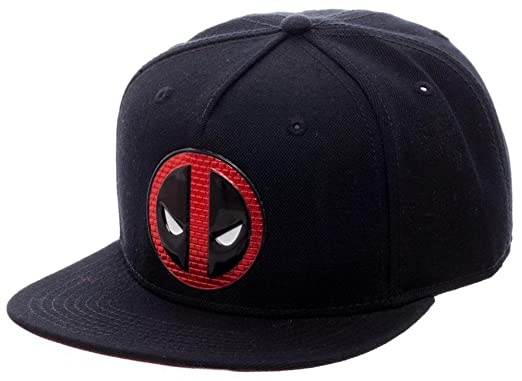 wholesale dealer 8d60e 90005 deadpool- chrome brick logo snapback hat size one size  Amazon.in  Clothing    Accessories