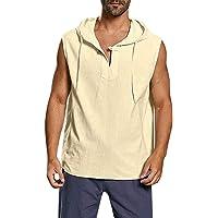 Sylar Camisetas Sin Mangas Hombre Camisetas Hombre Tirantes Chaleco con Capucha Camisetas Hombre Verano Color Sólido…