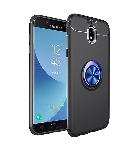 SpiritSun Funda para Samsung Galaxy J7 2017 Carcasa con Anillo de Soporte 360° Giratorio Protector Case Soporte Magnético Suave Silicona Gel TPU ...