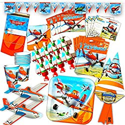Disney Planes Party Supplies Ultimate Set -- Birthday Party Decorations, Party Favors, Plates, Cups, Napkins, Table Cover and More!