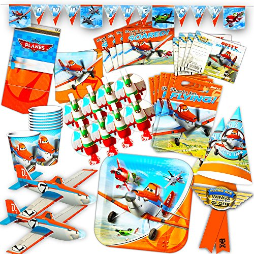 Disney Planes Party Supplies Ultimate Set -- Birthday Party Decorations, Party Favors, Plates, Cups, Napkins, Table Cover and More! ()