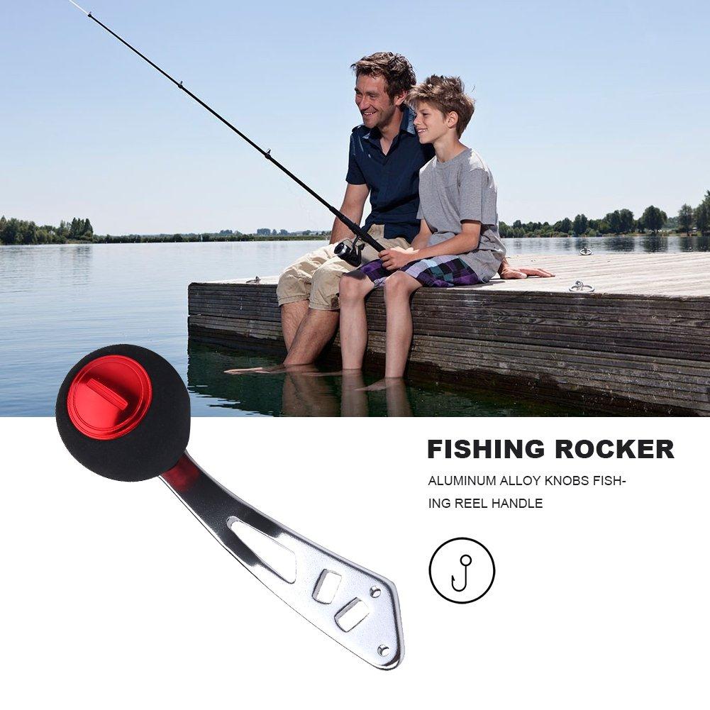 Fishing reel Poignée de remplacement bobine Rocker Poignée Bouton pour Baitcasting