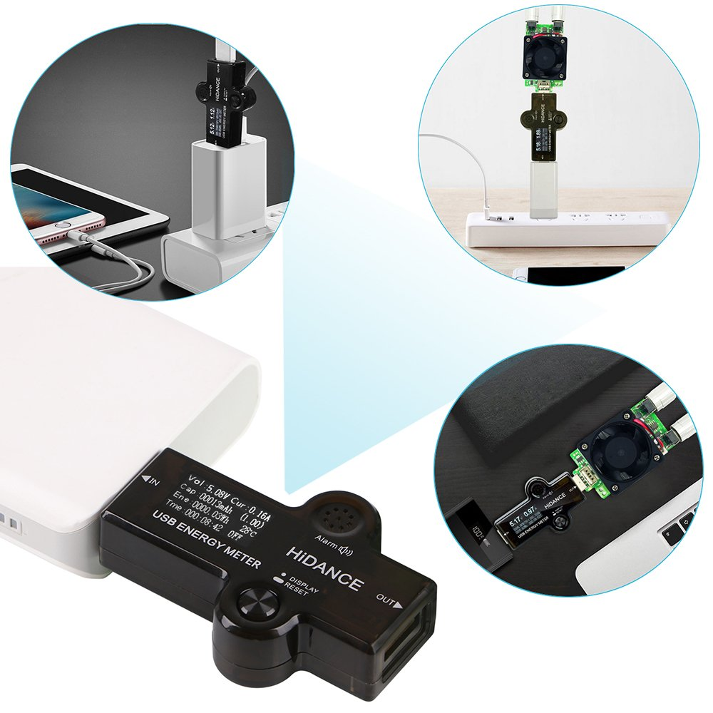 MakerHawk USB Tester Voltmeter USB Voltage Tester Current Tester USB Power Meter Multi-function Charger Capacity Voltage Current Detector 3.40-30.0V 0-5A 0.96 inch LCD Display Tester by MakerHawk (Image #9)