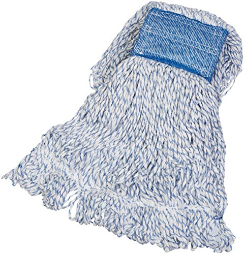 AmazonBasics Loop-End Rayon Finish Mop Head, 5-Inch Headband, Medium - 6-Pack by AmazonBasics