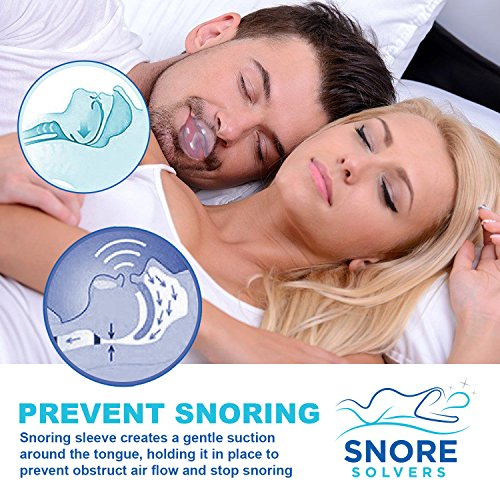 Snore Solvers Snoring Solution Tongue Retainer to Reduce or Stop Snoring Anti Snoring Device for Men and Women by Snore Solvers (Image #3)