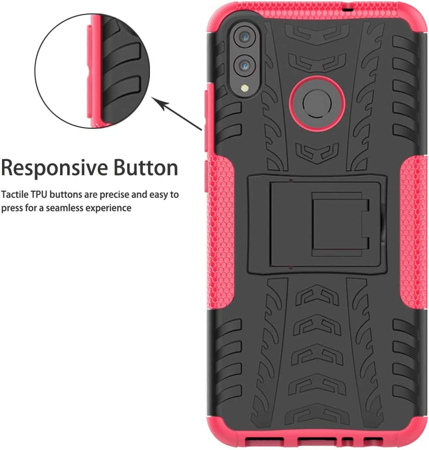 Rose Labanema Honor 8X //Honor View 10 Lite Coque Etui Housse Coque Shockproof Robuste Impact Armure Hybride B/équille Cover pour Huawei Honor 8X //Honor View 10 Lite