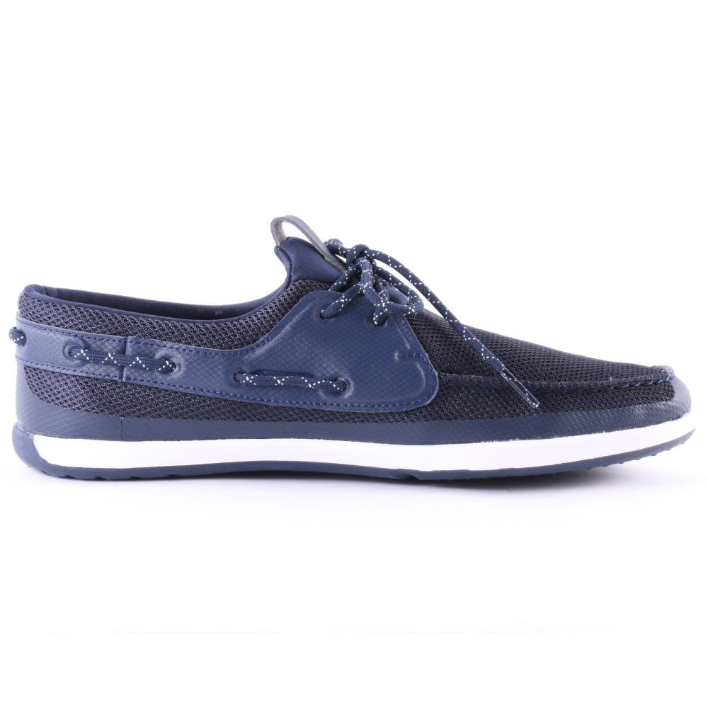 e0696a9c0ae44a Lacoste L.andsailing Trf Mens Mesh Boat Shoes Dark Blue - 9 UK   Amazon.co.uk  Shoes   Bags
