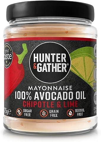 Hunter & Gather Mayonesa de Aceite de Aguacate con Chipotle y Lima 175g | Hecho con Aceite de Aguacate Puro y Yema de Huevo de Gallina Campera Inglesa ...