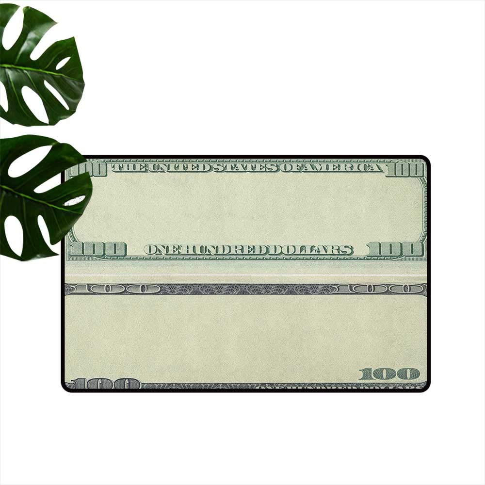 Money,Funny doormats Hundred Dollar Bill Century Note Design American Currency Style Frame Pattern 36''x42'',Roommat by RenteriaDecor