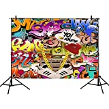 Mehofoto 80's&90's Party Photography Backdrop Hip Hop Graffiti Background 7x5ft Retro Style Party Decoration Photo Background