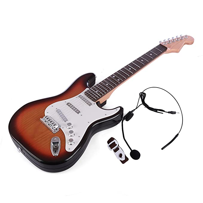 Yamix Guitar for Kids, 6 Strings Rock Band Music Electric Guitar Band Musical Guitar Playthings Rock Star Guitar Kids Musical Instruments Educational ...