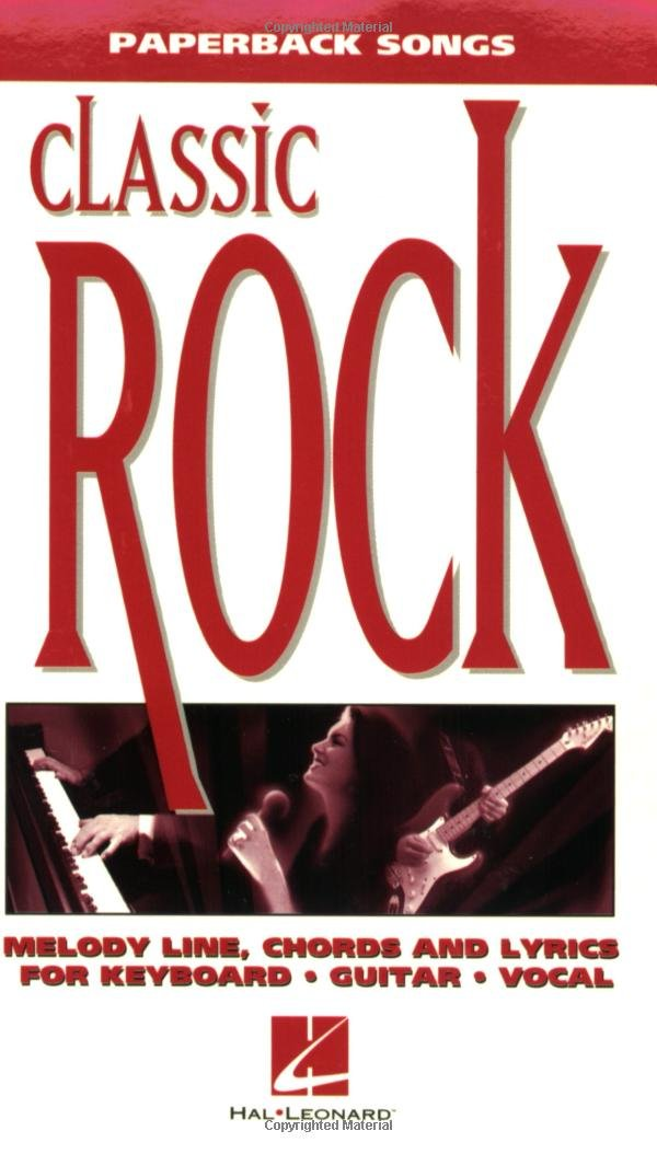 Amazon.com: Paperback Songs: Classic Rock: Melody Line, Chords and ...