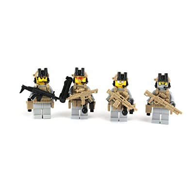 Battle Brick Custom Special Forces Army Rangers Team (S35) Custom Minifigure: Toys & Games