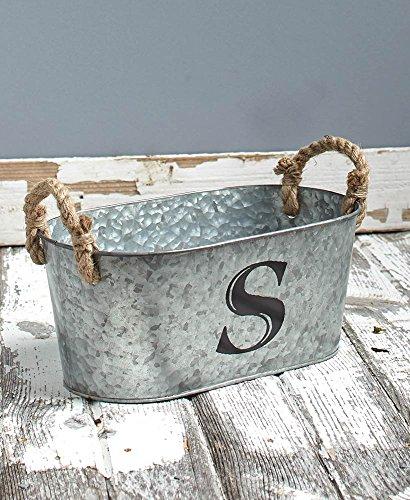 Galvanized Monogram Bucket S