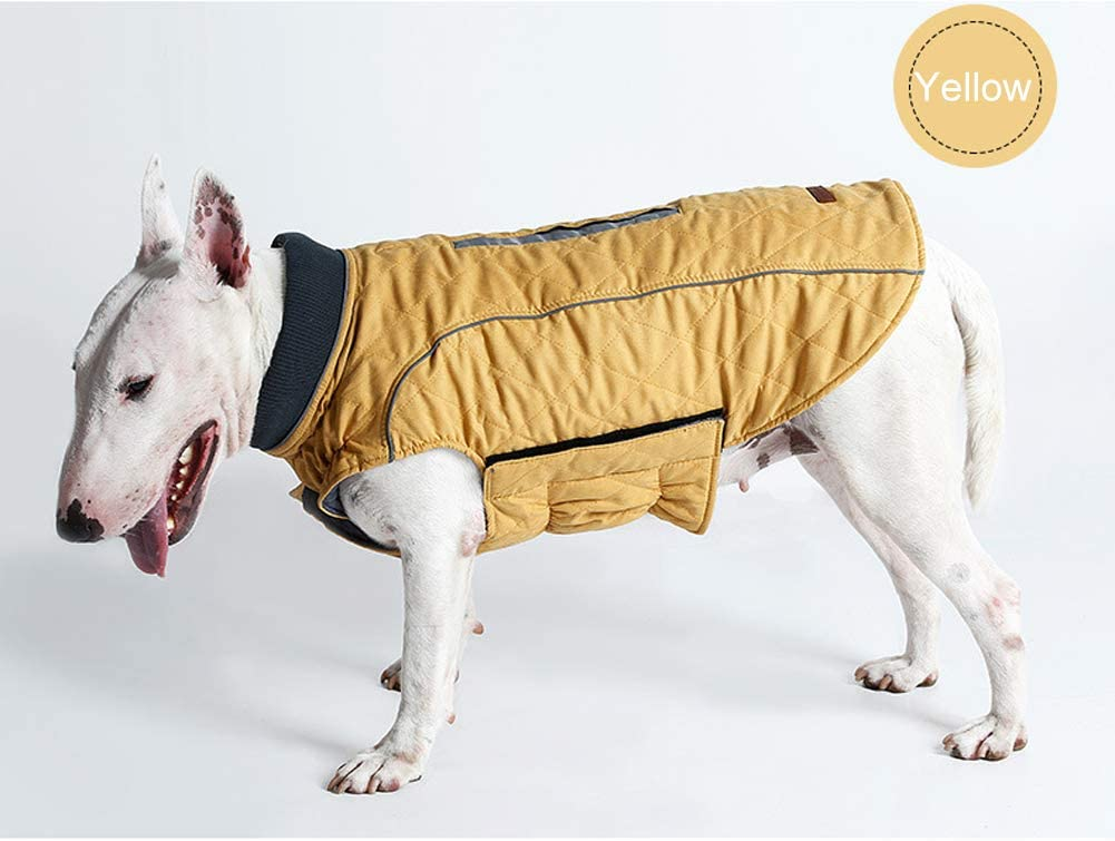 M, Red 6 Colors 7 Sizes Rantow Reflective Dog Coat Winter Vest Loft Jacket Small Medium Large Dogs Water-Resistant Windproof Snowsuit Cold Weather Pets Apparel