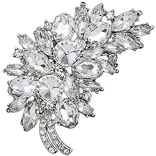 - Bai You Mei Vintage Feather Gold Plated Cute Austrian Crystal Rhinestone Brooches and Pins
