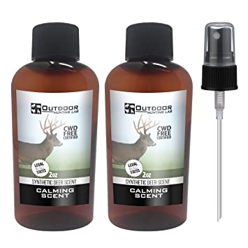 Outdoor Hunting Labs Deer Attractant Scent - Synthetic Urine - Buck Lure  for Whitetail Deer Hunting
