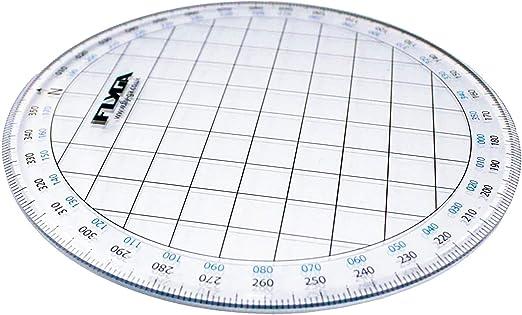 Transportador de navegación de mapas (círculo) – para LAPL, PPLA, PPL(H) y CPL pilotos de aviación + capitanes marinos, náuticos y de vela: Amazon.es: Oficina y papelería